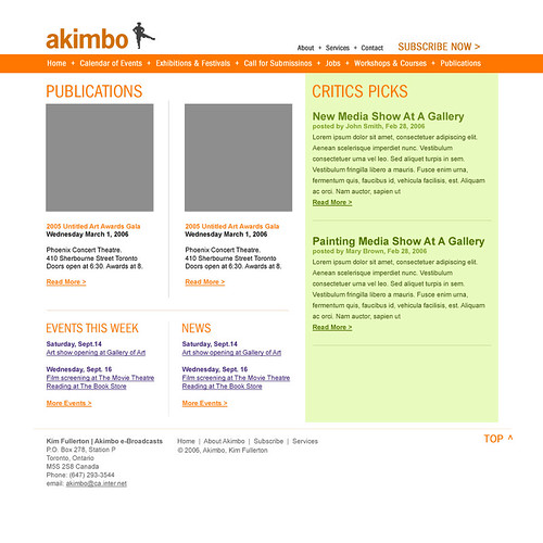 Akimbo Website - Final design comp