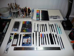 Brush Pen Collection all capped (betolung) Tags: drawing sketching zebra sakura pilot mitsubishi brushpen artsupplies uniball pentel niji fabercastell kuretake waterbrush jetpens brushpens aquashwaterbrush