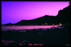 Fly Away In The VIOLET Sky (Kuzeytac) Tags: longexposure pink light sunset sea sky black color colour reflection nature wet silhouette stone backlight night geotagged evening rainbow twilight view purple hill aegean violet lavender twinkle scene lila explore backlit geotag siluet deniz mor leyla assos hava gkyz ege manzara gnbatm lsi yansma tepe k renk akam doa tabiat siyah ta pembe lavanta canoneos400d canoneosdigitalrebelxti ayvack rainbowseries fractalius kuzeytac copyrightedallrightsreserved aqualityonlyclub