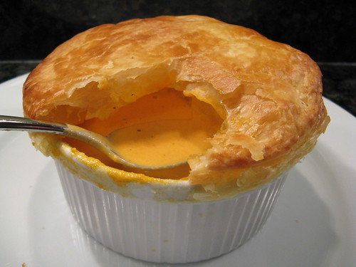 Cream of Tomato Soup with Puff Pastry
