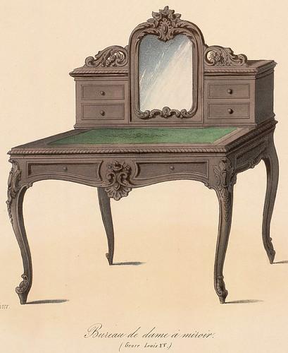 002-Bureau de Señora con espejo estilo Luis XV