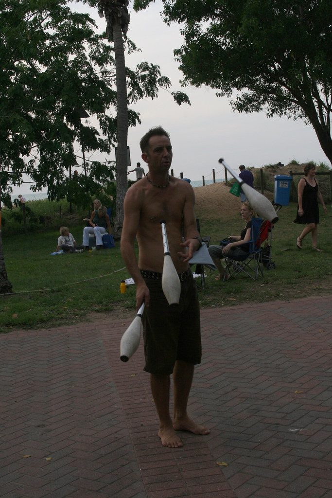Juggler Busker at Mindil Beach Market