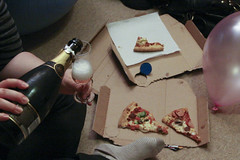 Pizza and Champagn