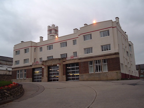 Kirkcaldy Fire Station from access road