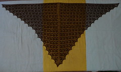 Adamas Shawl Blocking