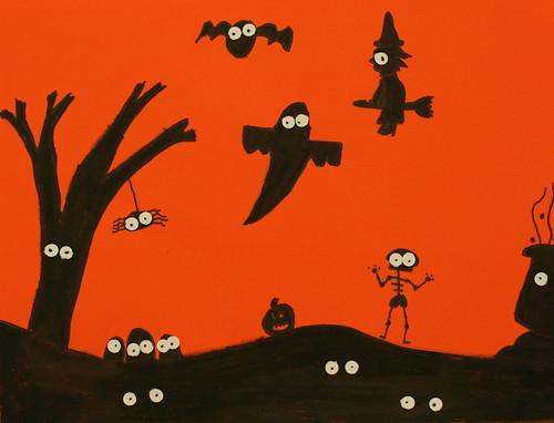 Jayci's spooky silhouette