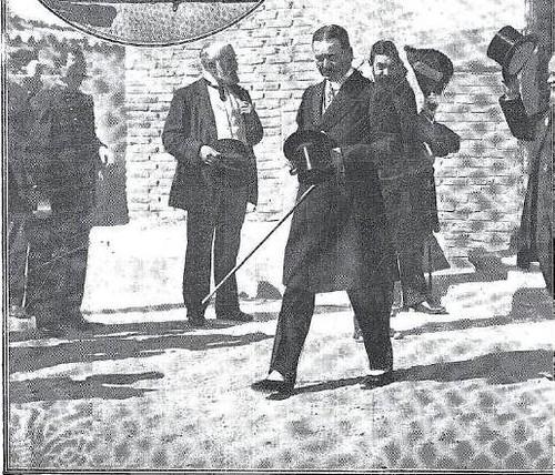 Comitiva de Alfonso XIII y Raymond Poincaré en Toledo en 1913