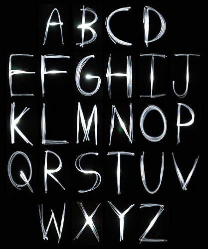 The Alphabet in Light