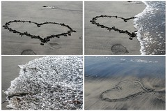 <3 (Mar*~) Tags: sea mer love praia beach mar sand diptych meer mare heart areia drawing amor sable playa coeur arena amour corao imagination dibujo plage