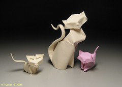 Cats / Mo (ORI_Q) Tags: wet cat paper kitten origami folding mo quyet giy gp htquyet