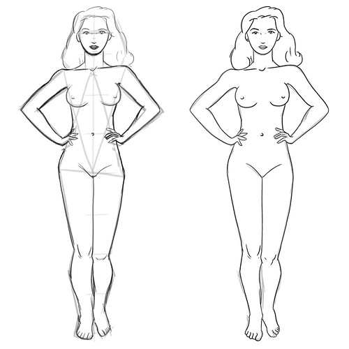 Double Triangle Method, Female Figure | Flickr - Photo Sharing!