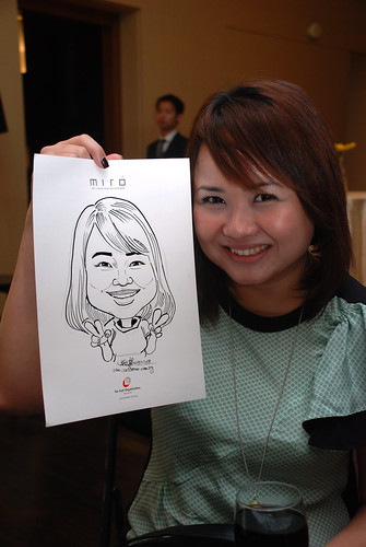 Caricature live sketching for Far East Organisation SPH Media Night The Miro 1