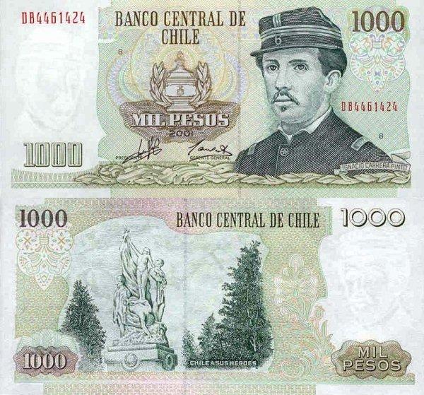 Chile P-154, 1,000 Pesos, 2001-5