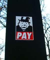 monopoly sticker PAY