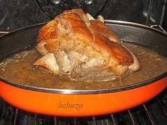 Cerdo con castañas-en horno