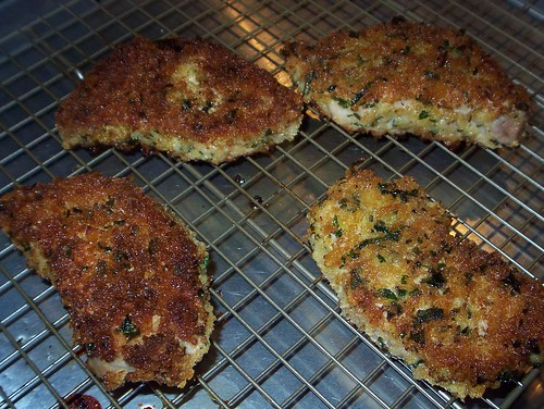 panko and herb fried pork chops