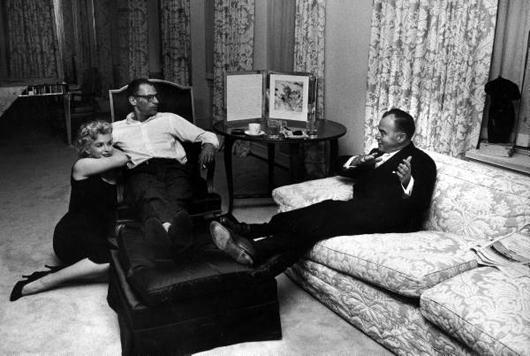 Arthur Miller y Marilyn Monroe en 1958