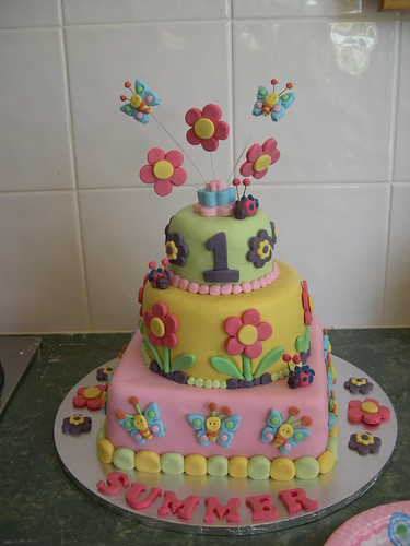 Mossy's masterpiece Summer's first Birthday cake hugs N stitches