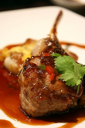 Grilled Special Rack of Lamb with Chinese Wine