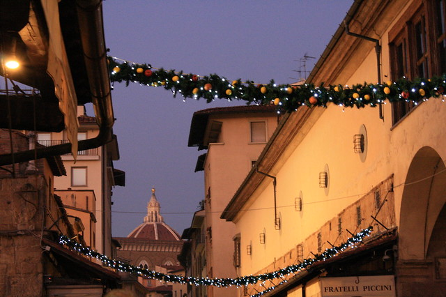 "A city in Tuscany dressed for ""Feste"""