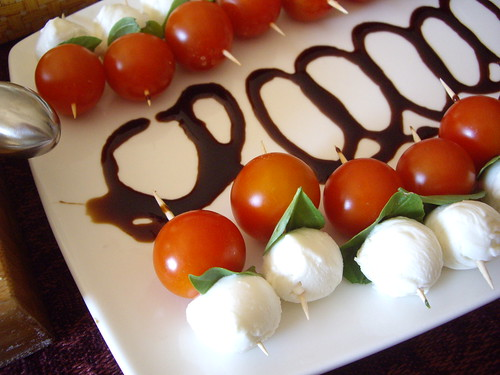 Tomato-Mozzarella Skewers