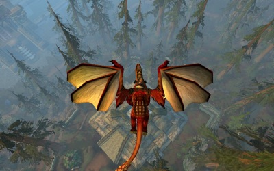 Red Drake From Above