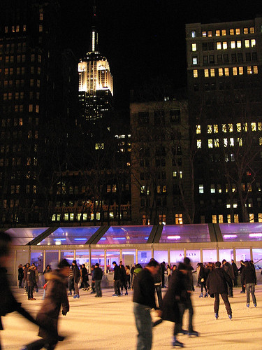 Skating in Bryant Park, NYC