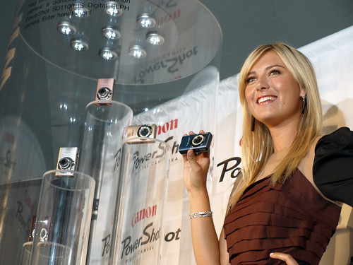 Maria Sharapova and her Canon Powershot Diamond Collection