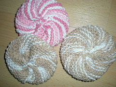 Knitted Scrubbies for teachers