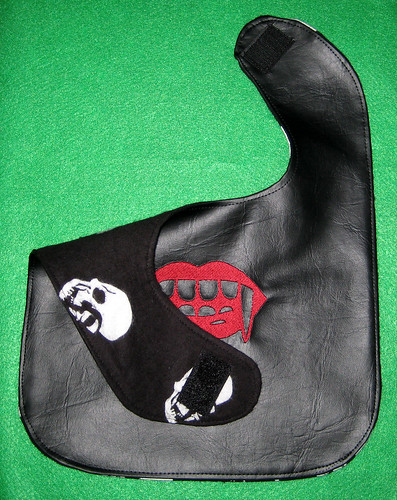 fangs bib backing
