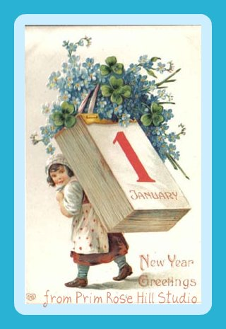 New Year Greetings from Prim Rose Hill Studio