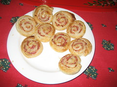 Traditional Christmas Morning Food- ham rolls