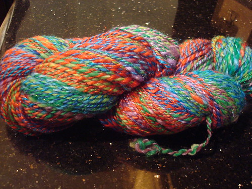 The finished Christmas Lights yarn..