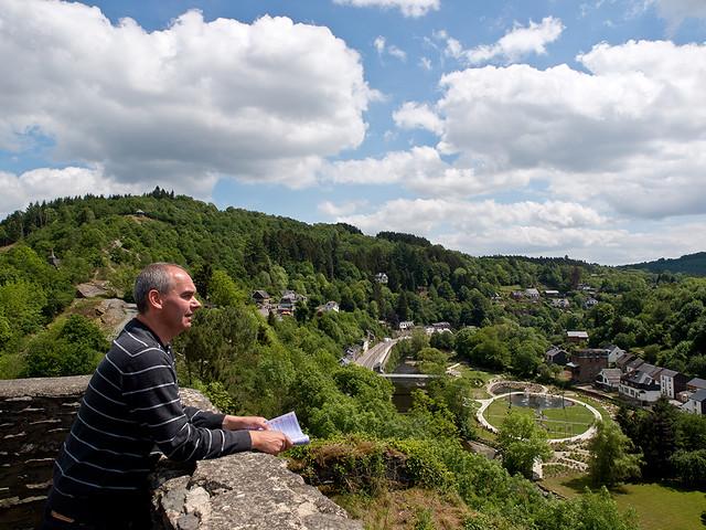 Uitzicht over La Roche-en-Ardenne