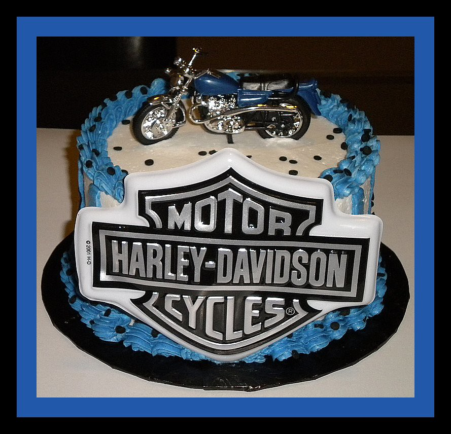 Men Birthday Cake Motorcycle