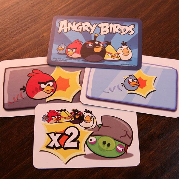 juego de cartas de angy birds