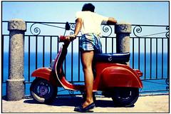 Vespa 50 (gennaromignolo) Tags: sea mare 1998 calabria piaggio tropea terrazzo vespacinquanta
