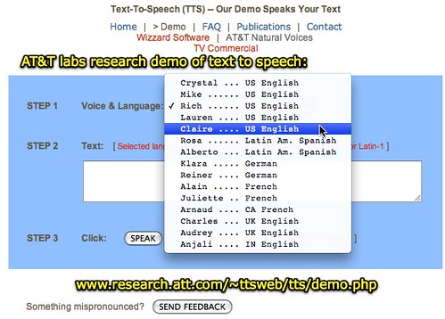 AT&T Labs Text-to-Speech: Demo