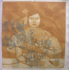 yellow proof--2008-unfinished state (Hibiki M.) Tags: art print etching printmaking intaglio