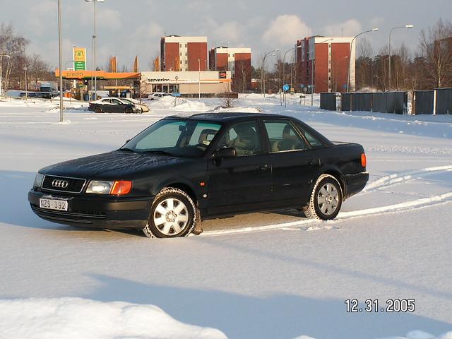 blue winter sun snow cold car geotagged sweden tracks 1992 100 audi denttech