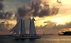Sailing in the sunset (Madiash) Tags: sunset sea orange usa clouds landscape sailing florida keywest digitalcameraclub lpsky fotocompetition|fotocompetitionbronze