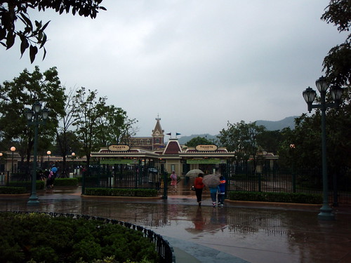 happiest place on earth? more of wettest place in HK that day