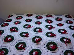 DSC00034 (BUNNYCROCHET) Tags: christmas crochet wreath blanket afghan crocheted