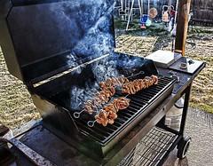 Grilling up some Spiedies! (iceman9294) Tags: newyork chicken grill pork binghamton chriscoleman southerntier spiedie spiedies mywinners iceman9294