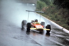 Graham Hill, Lotus-Ford (jimculp@live.com / ProRallyPix) Tags: 3 classic wet rain lotus wing f1 racing 49 nikkor nurburgring grahamhill nikormatft 200mmf4q jimculpphoto prorallypixcom jimculp