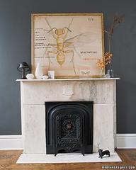 blueprint magazine (coco+kelley) Tags: grey fireplace marble roominteriordesign