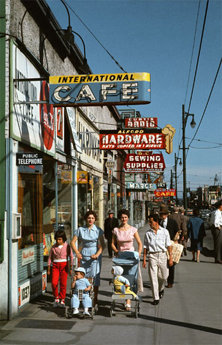 Robson Street, 1957