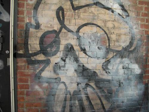 spray painted skull