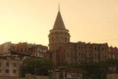 Galata Tower (Mehmet Babalolu) Tags: city trip vacation tower yellow galata sar