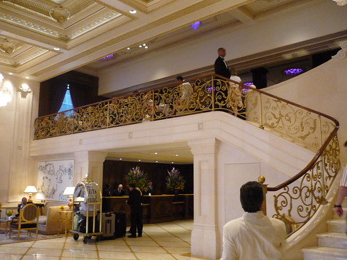 Lobby staircase, The Plaza, New York City